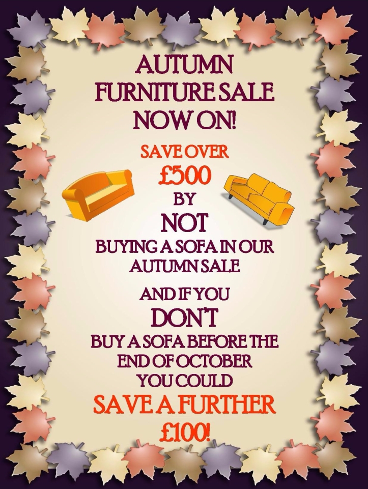 Autumn Furniture Sale